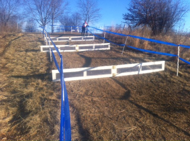 Triple barriers on a UCI cyclocross course?