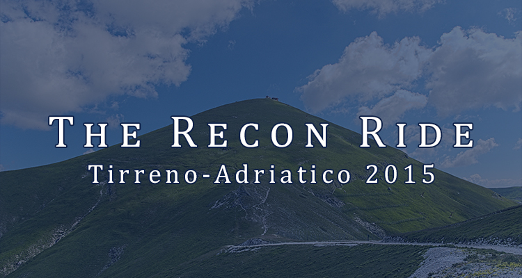 Recon Ride Podcast - Tirenno-Adriatico 2015