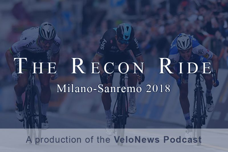 Recon Ride Milan-Sanremo 2018