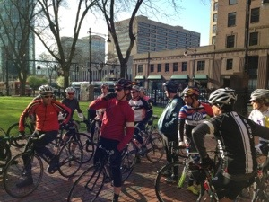 Staging for the Ride on Washington, Stage 2, in downtown Hartford CT